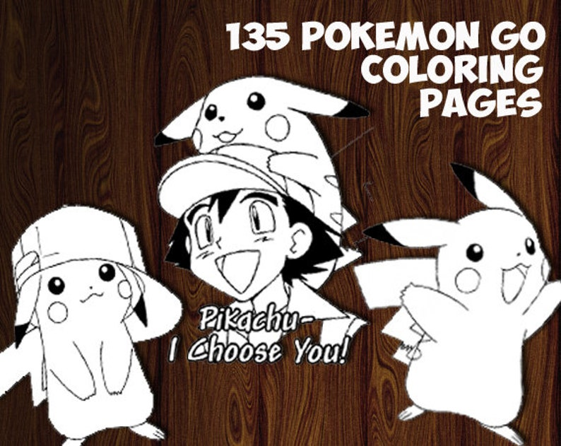 Pokemon Go printable coloring pages Pokemon Go coloring | Etsy