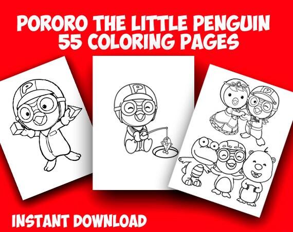 Pororo el pequeño pingüino 55 para colorear página.