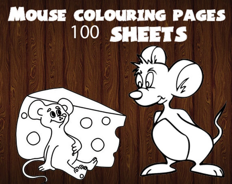 Mouse coloring pages - Mouse colouring page - Mouse colouring book