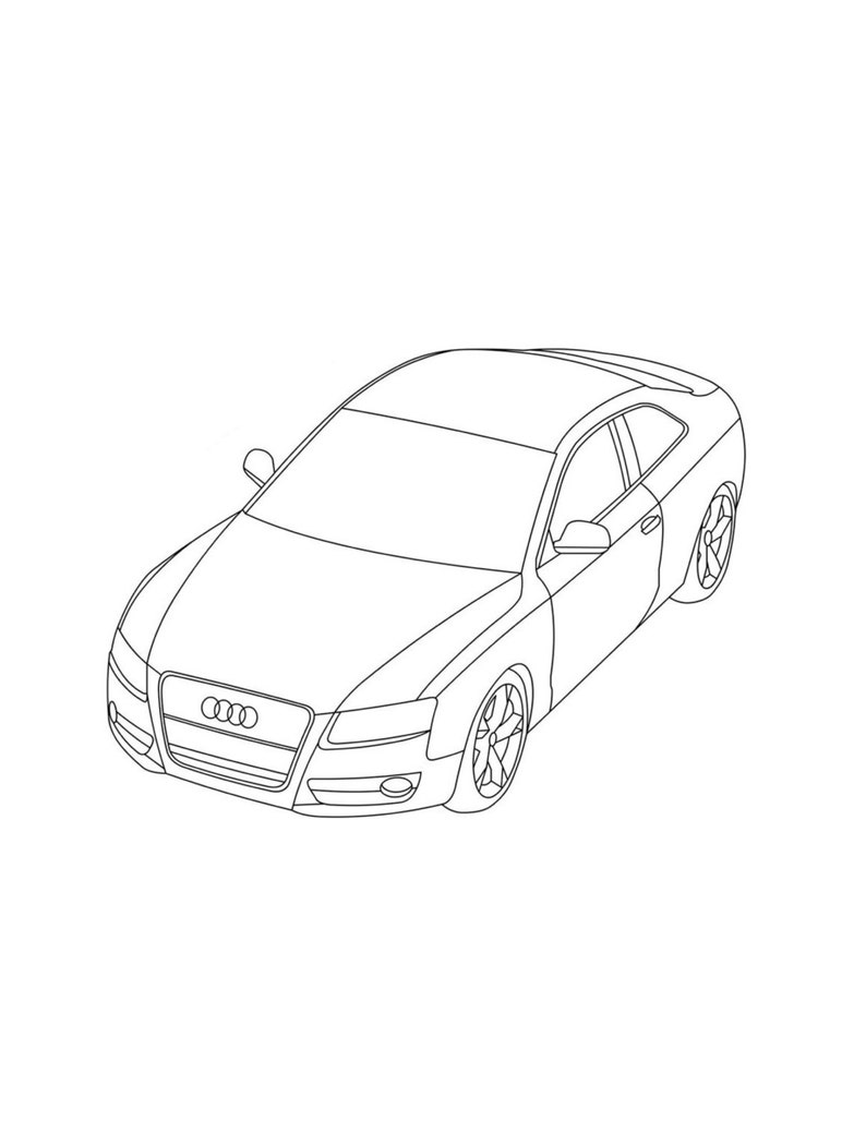 Cars Coloring Pages Printable Kids Coloring Page Bmw Coloring Etsy