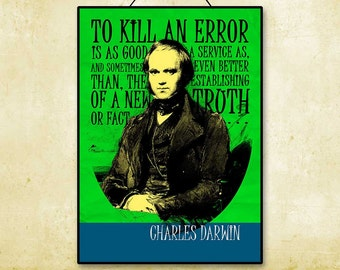 Charles Darwin Quote Printable Instant Download Poster Art Print Wall Evolution