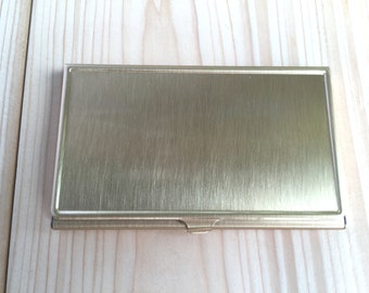 Business card case, GOLD Business card holder, Vintage business card holder