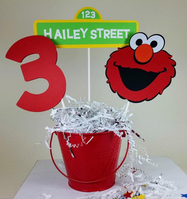 Elmo Centerpiece Birthday Party Personalized