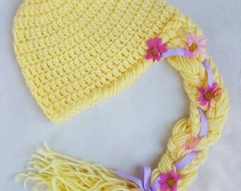 5a1b850d916 Rapunzel inspired crocheted hat