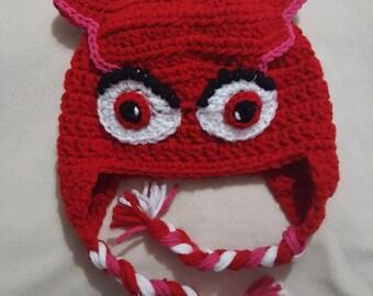 PJ Masks inspired Owlette crocheted hat 65898f3f37e