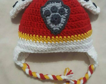 Paw Patrol inspired Marshall crocheted hat