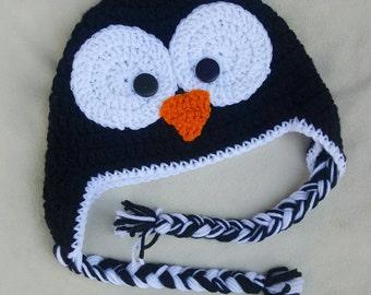 Penquin crocheted hat
