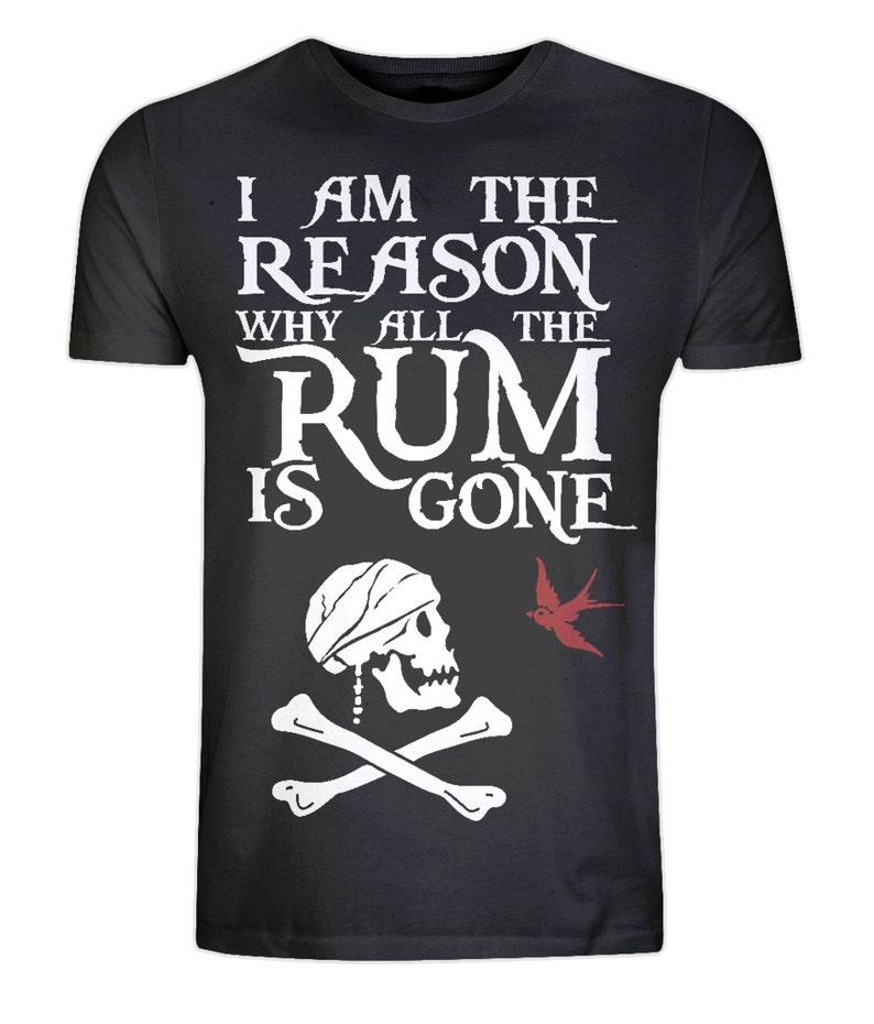 Organic Cotton Pirate T-shirt  Eco Friendly Ethical Black