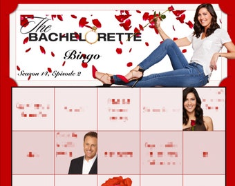 The Bachelorette Bingo Boards - Becca