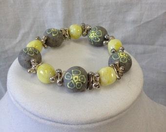PRICE REDUCED!!  Gray/Yellow bracelet