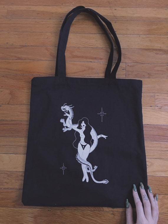 The Libra - Black Tote Bag