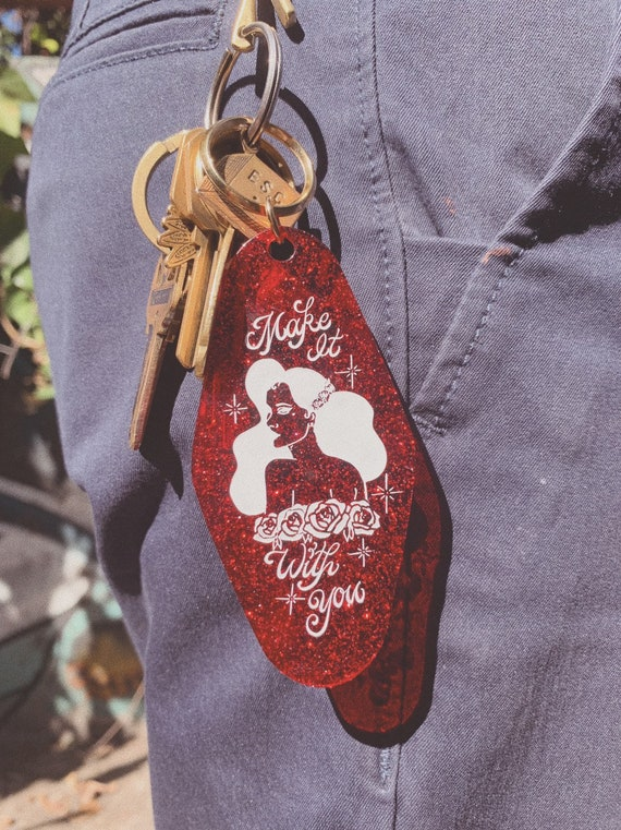 Red Glitter - Make it With You Keychain