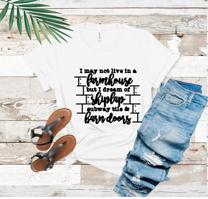 Farmhouse t shirt for women fixer upper tee shiplap shirt image 0