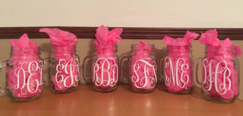 Monogrammed bridesmaid gifts girls trip cup personalized image 1