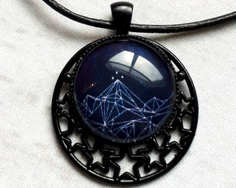 Night Court Starry Pendant Necklace, ACOMAF, ACOTAR, Velaris, night court, night court necklace, Rhysand, Feyre