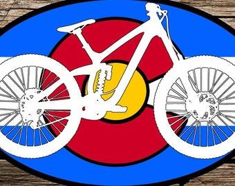 Colorado Mountain Bike Sticker