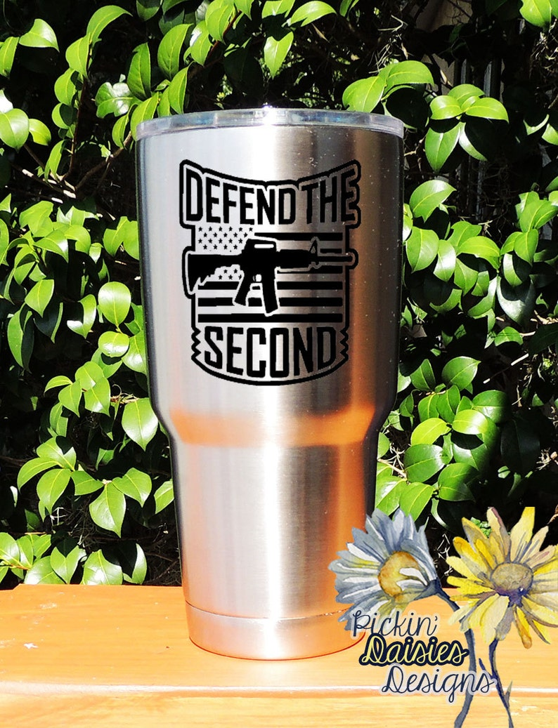 c46aef5774a Stainless Tumbler Ozark Tumbler 2nd Amendment AR-15 Defend | Etsy