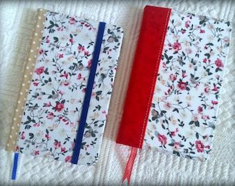 Floral notebook, vintage notebook - Handmade floral notebook, pocket journal, travel journal, vintage floral notebook