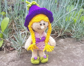 Crochet doll Amigurumi doll Art Doll gift for girl doll clothes clothing handmade doll toy for girls  birthday gift  soft toy stuffed flower