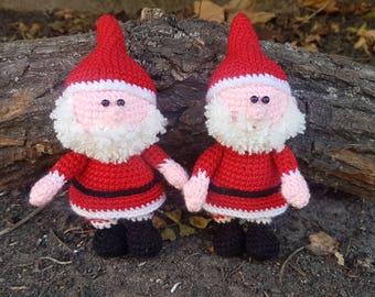 Christmas gift christmas decor Christmas toy Santa gift Santa decor Santa Claus ornament Santa toy crochet santa claus stuffed santa plush