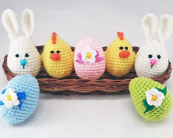 Easter chick easter small gift easter chicken basket fillers easter stuffers easter eggs crochet eggs easter gifts bunny eggs chick egg crochet easter cozy easter decorations small gift easter gift set negle Image collections