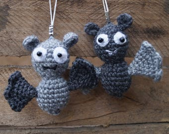 Halloween Decor set Halloween decorations bat gift party favors ornaments bat charms Crochet bat toy bat keychain Bat ornament bat plush