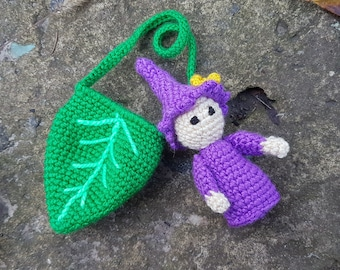 Waldorf toys crochet gnome waldorf inspired toddlers montessori waldorf gift for babyshower dwarf knitted baby gnome doll figures in leaf