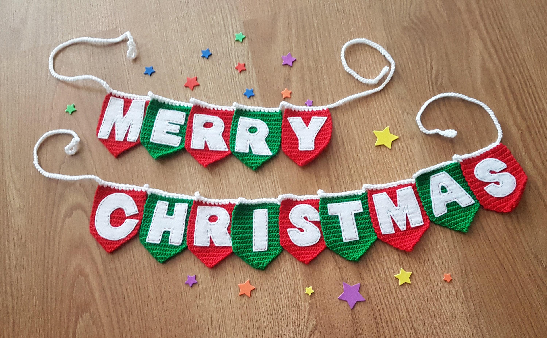 Weihnachten Girlande Frohe Weihnachten Dekor Weihnachten Wand   Etsy