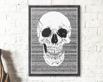 Sherlock The Abominable Bride Skull Poster Sherlock Skull Etsy