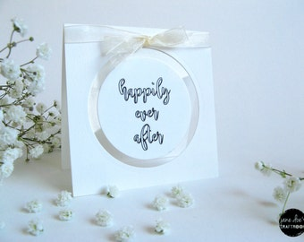 Wedding card, Happily Ever After, Transparent, 4x4, Love Card