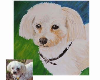 Custom Pet Painting, Custom Pet Portrait, Dog Lover Gift, Pet Canvas Art, Dog Portrait, Dog Art, Pet Loss Gift