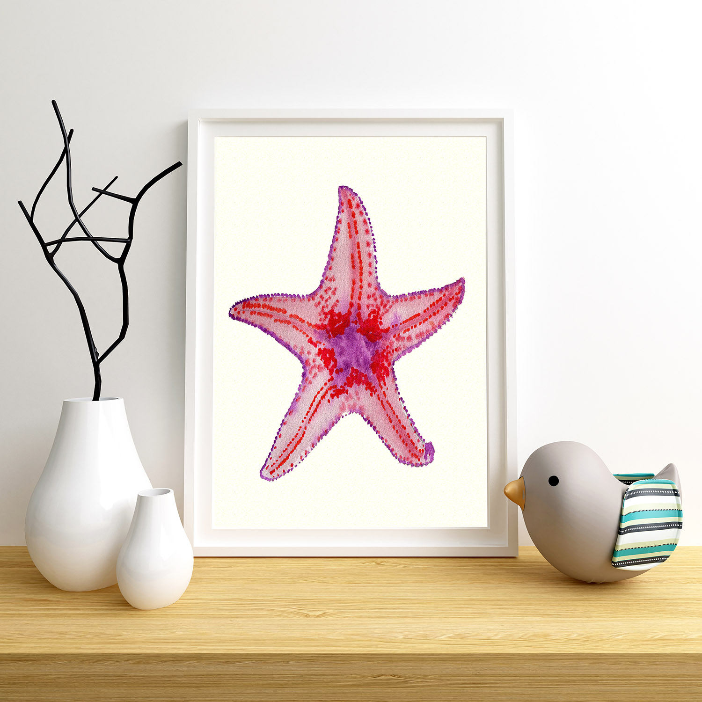 Starfish Art Kids Starfish Art Starfish Print Nautical ...