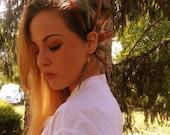 Ear Cuff Feather,Boho ear cuff,Earrings,Tribal Ear Cuff,Hair Accessories,Hippie,Native american,Indian Boho,Statement Jewelery,Festival