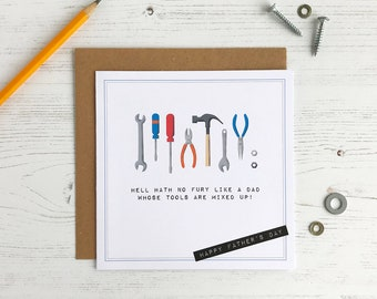 Toolbox Father's Day Card - DIY Dad - Tools - Funny Card For Dad - Hell Hath No Fury
