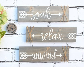 Farmhouse Bathroom Decor Etsy