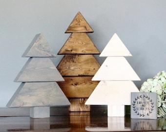 farmhouse christmas decor rustic trees wood christmas trees wooden christmas tree rustic christmas decor wood tree wooden tree set - Wooden Christmas Tree Ornaments