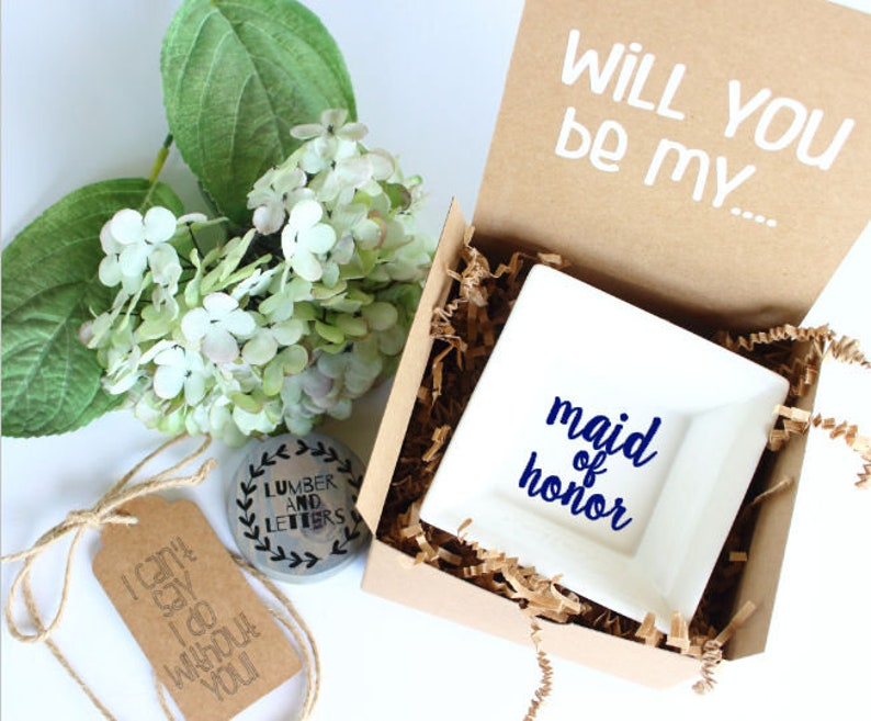Maid of Honor Ring Dish Gift  Will You Be My Maid of Honor  image 0