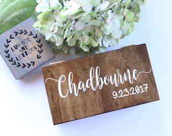 Wedding Ring Box - Wedding Ring Box Rustic - Ring Bearer Box - Handmade Ring Box - Personalized Ring Bearer Box - Double Ring Box