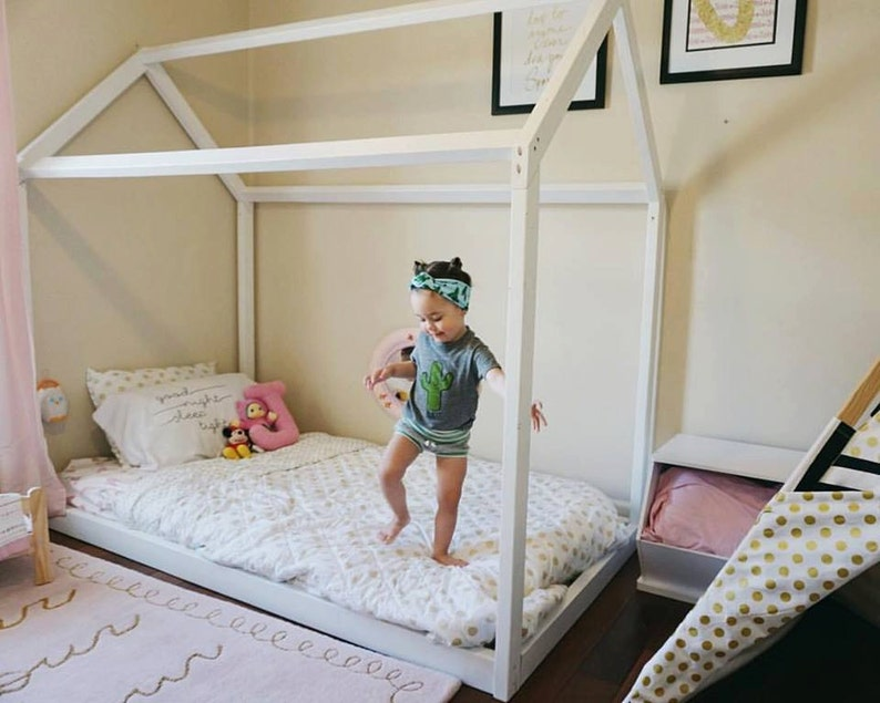 info for fef41 96568 Twin Size House Bed or Full Size House Bed Montessori Furniture Montessori  Room Full Floor Bed for Kids Montessori Bed Twin Bed For Kids