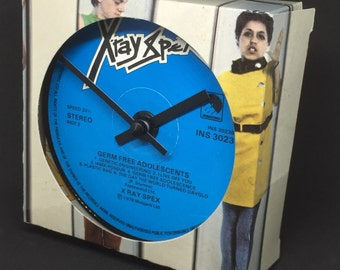 X-Ray Spex - Germ Free Adolescents. Clock made from vinyl record