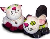 Pattern Cat Doorstopper, Crochet pattern