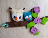Owl door hanger, hanging decoration, window decoration for hanging, crochet pattern owl