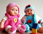 Dress, Skirt and Shorts for little Dolls (11-13 inch) Crochet Pattern, Dollclothes, Clothes for Doll, skirt, dress, socks for dolls