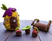 Doorstopper Beehive crochet pattern, crochet bees, crochet hive, crochet beginner, summer