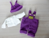 """Crochetpattern Overall """"Lilly"""" for 11"""" to 19"""" dolls, pants crochet pattern, clothes pattern, dollclothes, knotenzeug"""