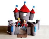 Castle, Crochet pattern, Knight, King dolls