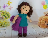 Doll Lizzy, little girl doll, doll crochet, doll with hair, dollclothes, Knotenzeug
