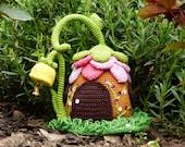 Crochet Pattern Door Stop Fairies Cottage,