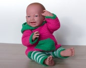 Dollsweater, Hoodie Pia with Leggings, Dollclothes