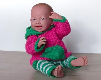 Leggings und Hoodie Pia für 30-44 cm Puppen, Puppenkleidung